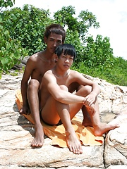 Asian Twinks Ken and Dam in Swim Team Boys
